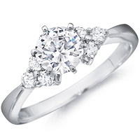 Portia Diamond Ring with Clusters by Eternity (.23 ctw.)