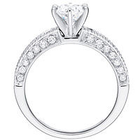 Carlotta round-cut diamond with Channel set diamond band by Eternity(.60 ctw.)
