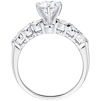 Desiree round-cut diamond with six-diamond band by Eternity (.54 ctw.)