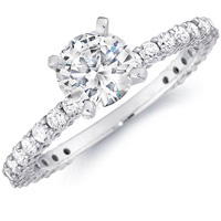 Three-Quarter Diamond Engagement Ring (.62 ctw.)