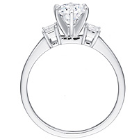 Adriana round-cut diamond with princess-cut diamond accents by Eternity (.21 ctw.)