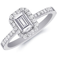 Cassandra Emerald-Cut Diamond with Diamond Setting (.29 ctw.)