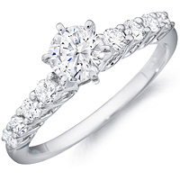Camille round-cut diamond band with diamond set band by Eternity (.48 ctw.)