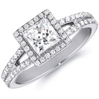 Stella Princess-Cut Diamond with Diamond Accents (.25 ctw.)