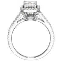 Mercedes Princess-Cut Diamond with Diamond Accents (.62 ctw.)