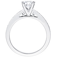 Gita round-cut diamond with diamond studded band by Eternity (.09 ctw.)