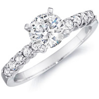 Leona Diamond Prong Set Engagement Ring (.30 ctw.)