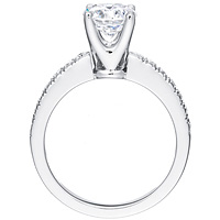 Imogen round-cut diamond with bezel-set diamond band by Eternity (.29 ctw.)