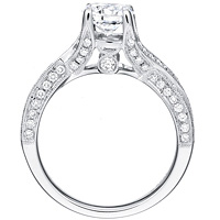 Natalia diamond solitaire with diamond studded twist band by Eternity (.60 ctw.)