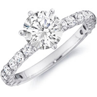 Samantha Diamond Engagement Ring with Diamond Studded Band (.70 ctw.)