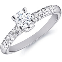Talia Diamond Solitaire with Pave Band and Bezel-Set Accent by Eternity