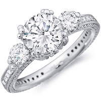 Soraya Diamond Ring With Diamond Accents and Diamond Band by Eternity (.68 ctw.)