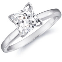 Melanie Princess Cut Solitaire Engagement Ring