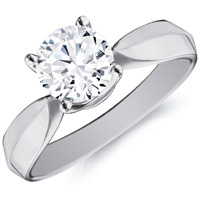 Sylvia Round-Cut Diamond Solitaire by Eternity