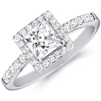 Sybill Princess-Cut Diamond with Diamond Frame by Eternity (.37 ctw.)