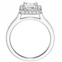 Monique Princess-Cut Diamond with Diamond Frame and Band by Eternity (.43 ctw.)