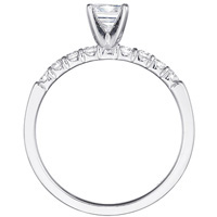 Mirabelle Diamond Prong Set Engagement Ring and Band Set (1.00 ctw.)