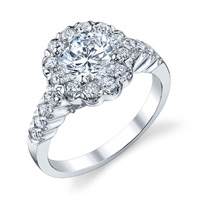Judith Diamond Halo Ring (.76 ctw.)