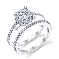 Rachel Diamond Halo Ring