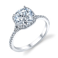 Diana Diamond Halo Ring With Split Shank