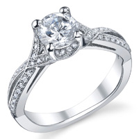Diamond Crossover Ring