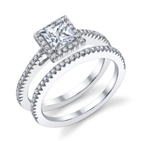 Chloe Princess Cut Halo Ring (.24 ctw.)