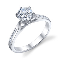 Channel Set Cathedral Diamond Ring (.13 ctw.)