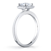 Deanna Princess Cut Halo Ring (.10 ctw.)