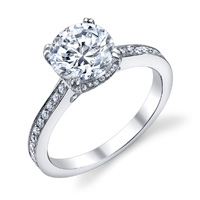 Liza Engagement Ring With Diamond Studded Prongs