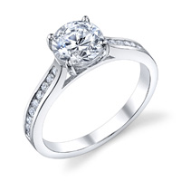 Brianna Channel Set Diamond Ring