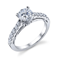 Andrea Diamond Ring With Open Gallery (.50 ctw.)