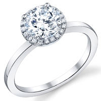 Diamond Halo With Plain Band