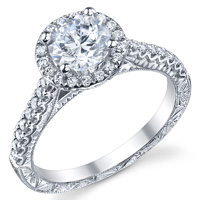 Vintage Diamond Halo Setting