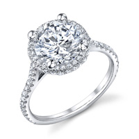 Antonia Pave Diamond Halo Ring