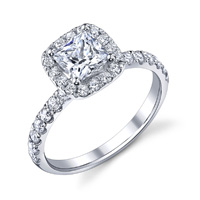 Arianne Cushion Halo Ring (.62 ctw.)
