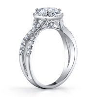 Eleanor Twisted Diamond Band & Halo Ring (.62 ctw.)