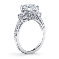 Daria Three Stone Halo Engagement Ring (.48 ctw.)