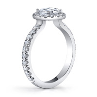 Patience Pave Halo Engagement Ring (.61 ctw.)