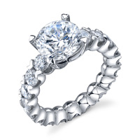 U-Prong Diamond Engagement Ring