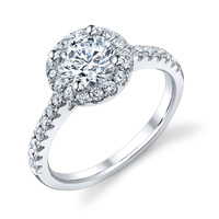 Angela Diamond Halo Ring (.47 ctw.)