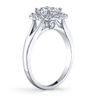 Katerina Diamond Halo Ring With Split Shank (.42 ctw.)