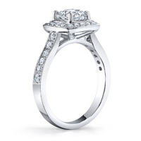 Joanna Cushion Halo With Round Cut Diamond Ring (.36 ctw.)