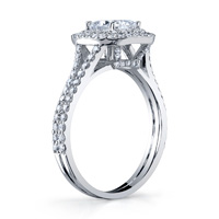 Double Halo Ring With Split Shank
