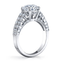 Prong Set Diamond Ring With Open Gallery (.58 ctw.)