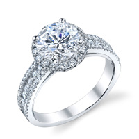 Rita Pave Diamond Halo Ring