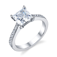 Princess Cut Diamond Setting